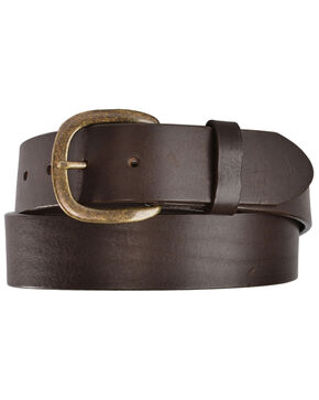Justin Basic Leather Belt, Brown, hi-res