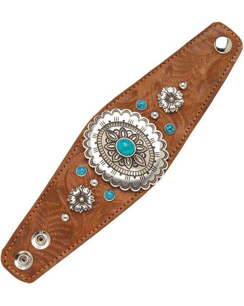 American West Women's Tan Wide Cuff Bracelet , Tan, hi-res