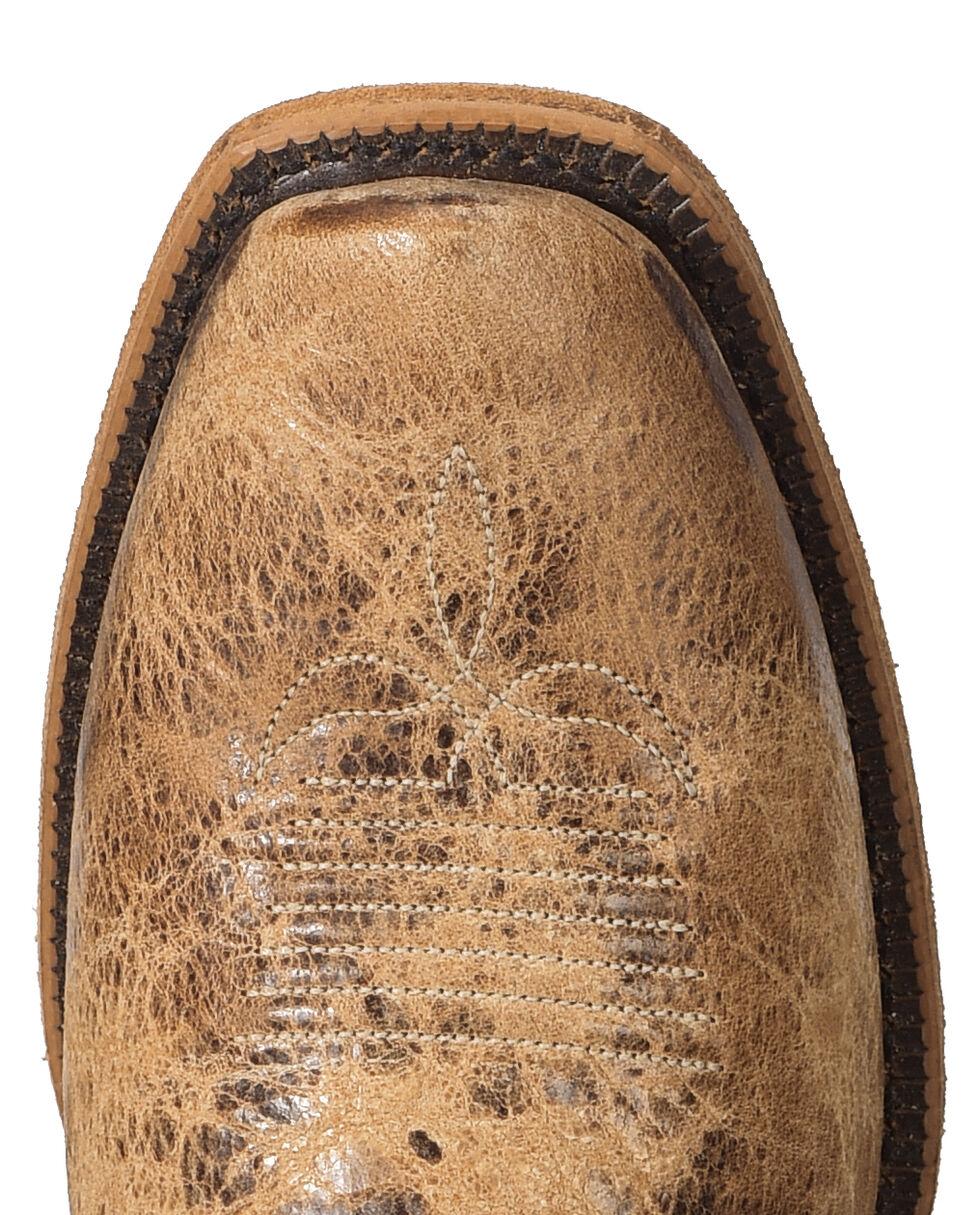 Justin Men's Distressed Cowboy Boots - Narrow Square Toe, Tan, hi-res