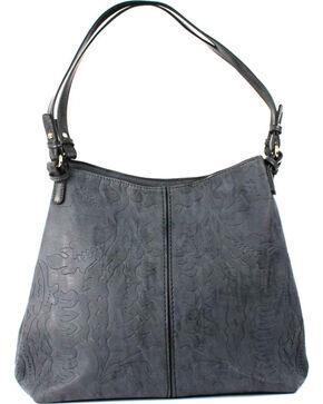 Treska Grey Three Compartment Handbag, Black, hi-res