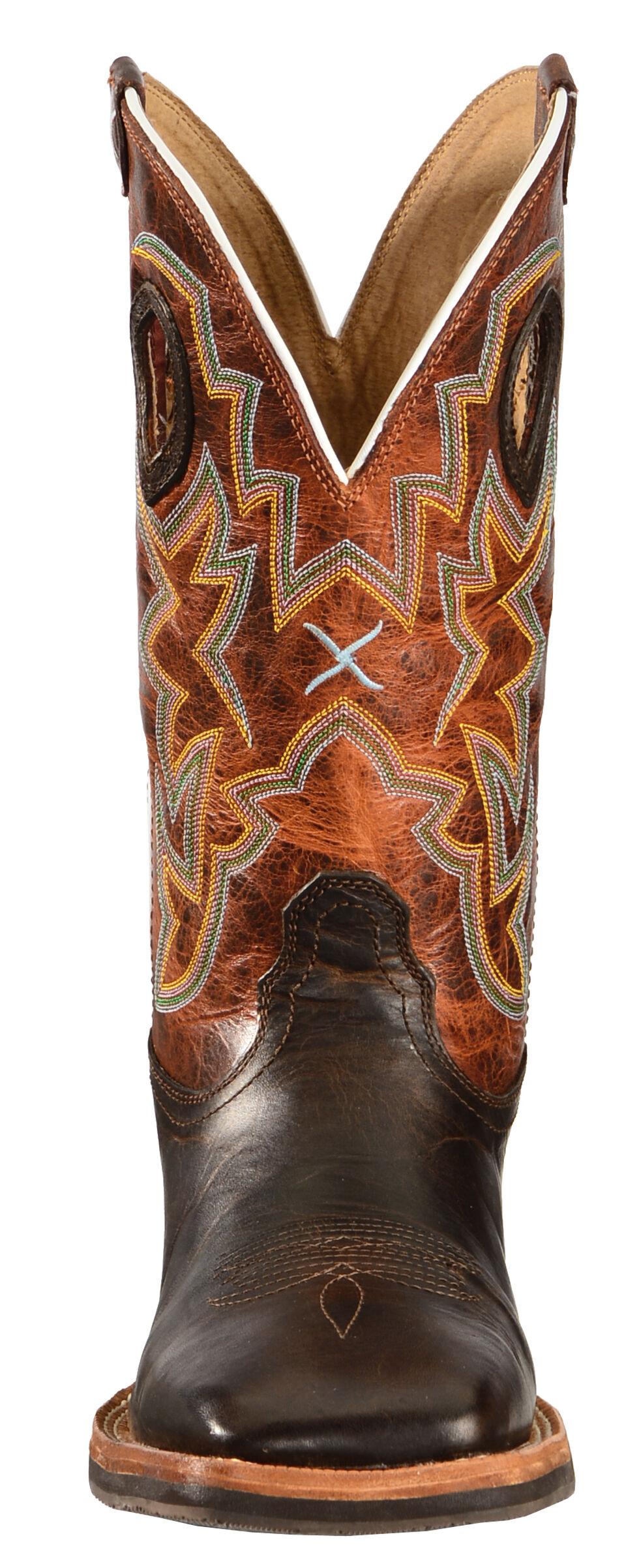 Twisted X Horseman Cowboy Boots - Square Toe, Chocolate, hi-res