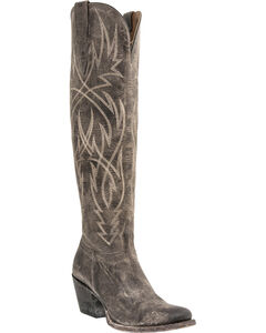 Lucchese Courtney Mad Dog Tall Boots - Round Toe, , hi-res