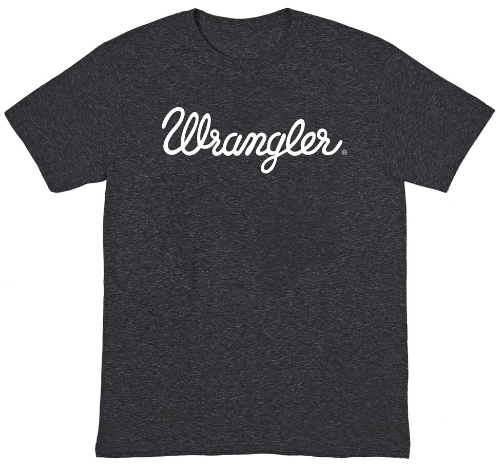 Wrangler Men's Black Logo Tee, Black, hi-res