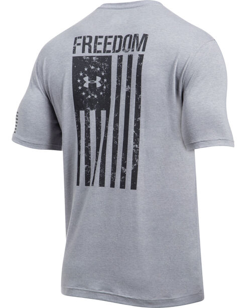 Under Armour Men's Freedom Flag Short Sleeve T-Shirt, Light Grey, hi-res