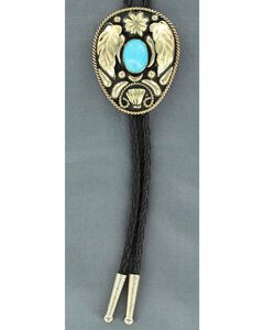 Wings & Turquoise Stone Bolo Tie, , hi-res