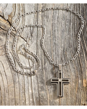 Cody James Cross Pendant Necklace, No Color, hi-res