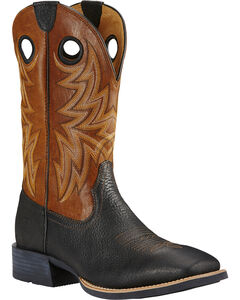 Ariat Moonless Night Heritage Cowhorse Performance Cowboy Boots - Square Toe , Brown, hi-res