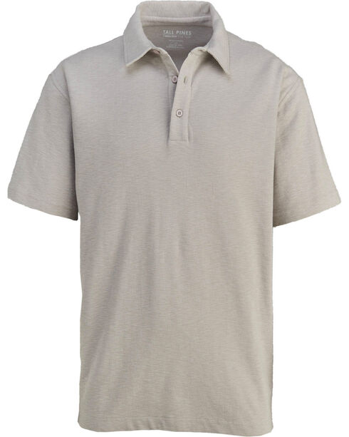 Woolrich Men's Tall Pine Slub Polo Shirt , Grey, hi-res