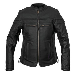 Interstate Leather Women's Moxie Leather Scooter Jacket, Black, hi-res