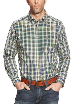 Ariat Porter Plaid Performance Long Sleeve Shirt - Big & Tall , Multi, hi-res
