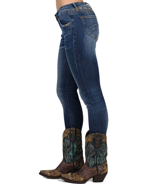 Driftwood Women's Jackie Embroidered Skinny Jeans, Blue, hi-res