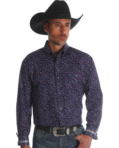 Wrangler Men's Plum 20X Advanced Comfort Competition Shirt , Purple, hi-res