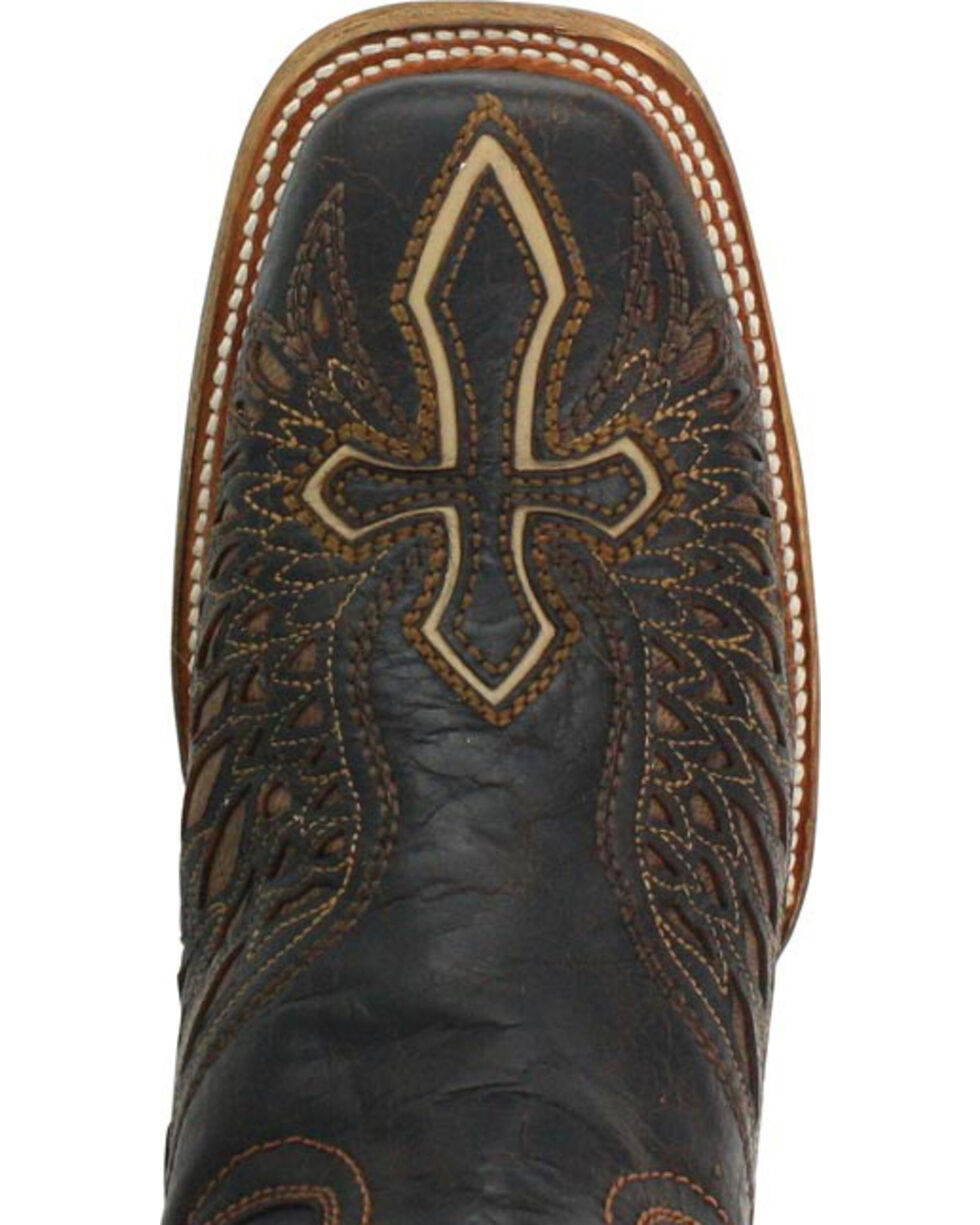 Corral Men's Wing and Cross Western Boots - Square Toe , Brown, hi-res