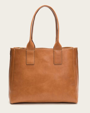 Frye Women's Cognac Ilana Leather Tote , Cognac, hi-res