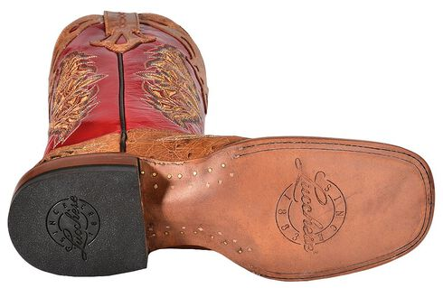 Lucchese Handcrafted 1883 Amberlyn Full Quill Ostrich Cowgirl Boots, Tan, hi-res