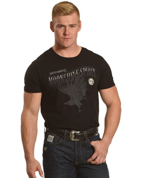 Moonshine Spirit Men's Raven White Lightning Short Sleeve T-Shirt, Black, hi-res
