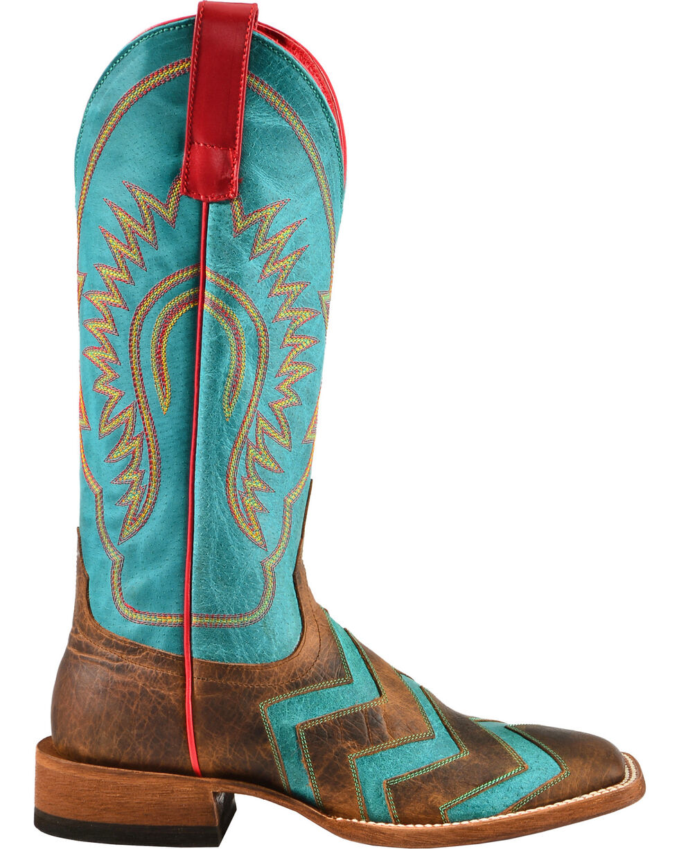 Macie Bean Wave on Wave Cowgirl Boots - Square Toe, Toast, hi-res