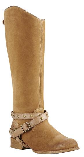 Ariat Brooklyn Brown Manhattan Fashion Cowgirl Boots - Round Toe , Sand, hi-res