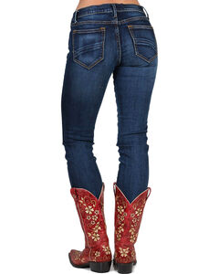 Driftwood Women's Audrey Embroidered Straight Leg Jeans, Blue, hi-res