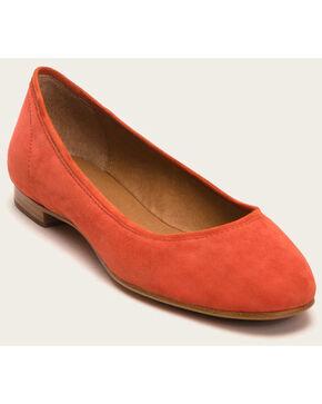 Frye Women's Coral Gloria Ballet Shoes - Round Toe , Coral, hi-res