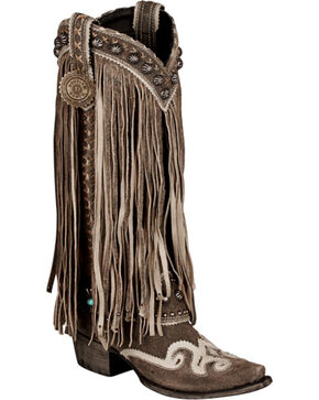 Lane for Double D Ranch Black Prescott Boots - Snip Toe , Black, hi-res