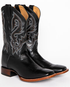 Cody James Men's Black Stockman Cowboy Boots - Square Toe, , hi-res