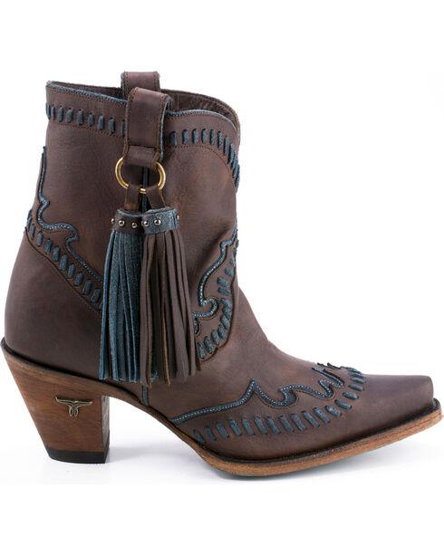 Lane Women's Hoedown Short Boots - Snip Toe , Dark Brown, hi-res