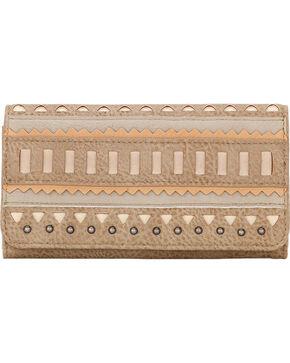 Bandana by American West Women's El Dorado Flap Wallet, Beige/khaki, hi-res