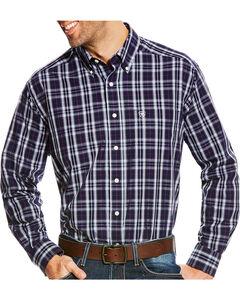 Ariat Men's Navy Plaid Zandow Western Shirt , Multi, hi-res