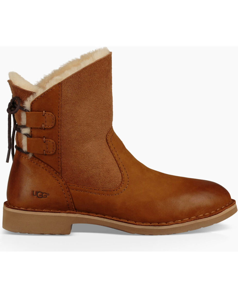 UGG Women's Chestnut Naiyah Classic Boots - Round Toe , Chestnut, hi-res