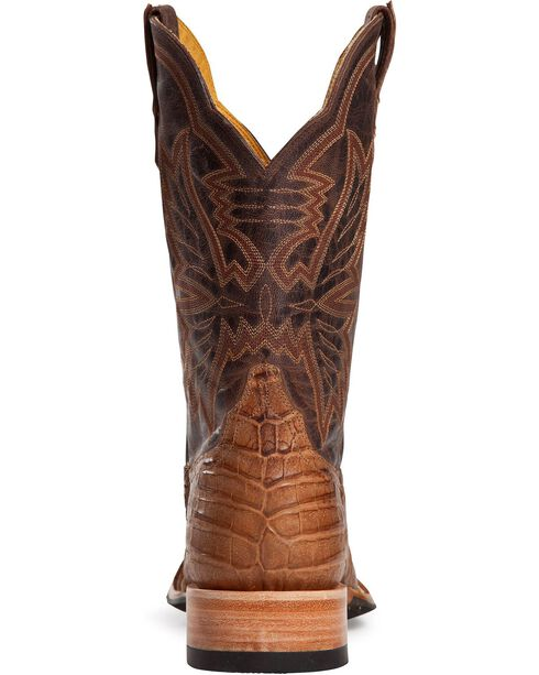 Cinch Caiman Cowgirl Boots - Square Toe, Brown, hi-res