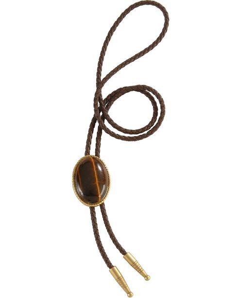 Artificial Tiger Eye Stone Bolo, Brown, hi-res