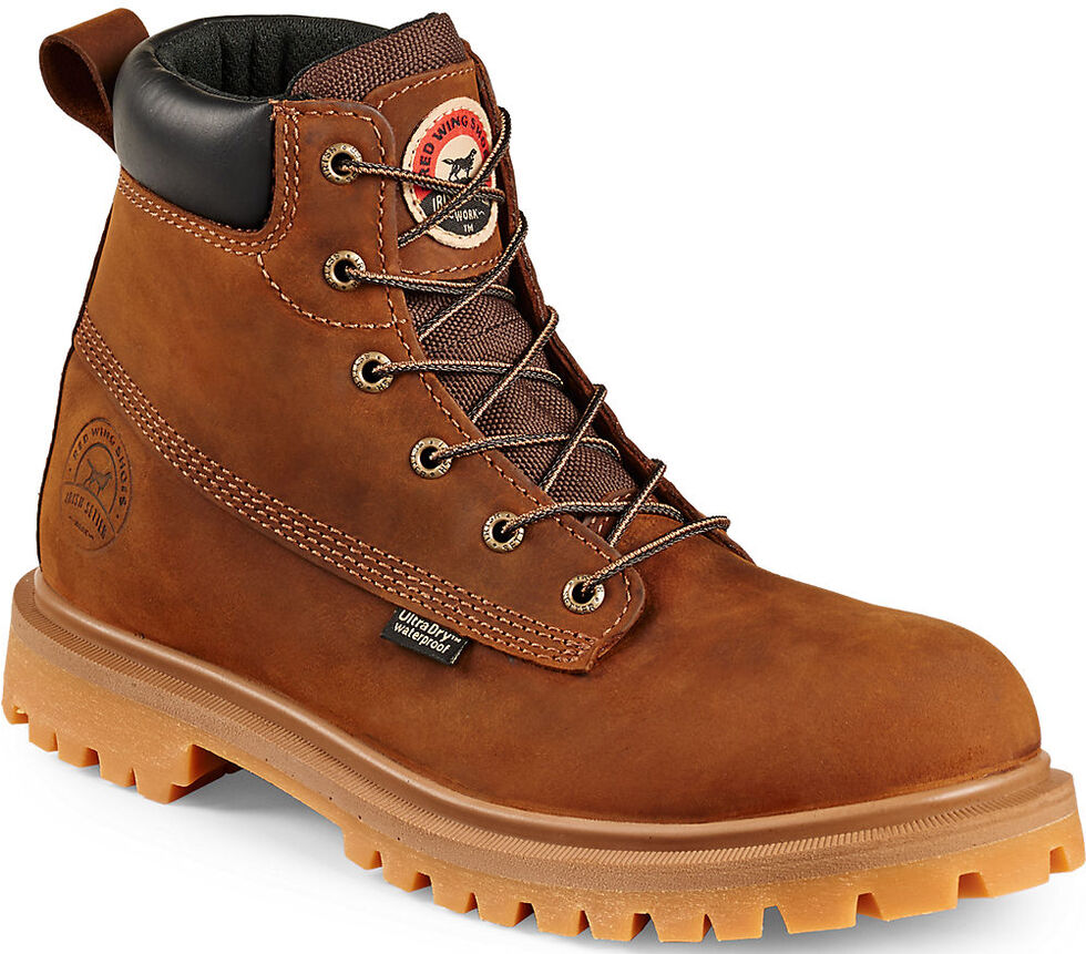 """Irish Setter by Red Wing Shoes Men's Hopkins 6"""" Work Boots - Soft Round Toe , Brown, hi-res"""