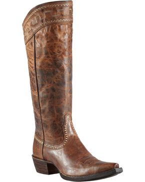 "Ariat Sahara 15"" Cowgirl Riding Boots - Snip Toe, Brown, hi-res"