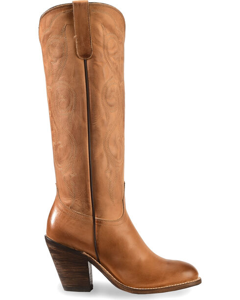 Lucchese Vanessa Tan Cowgirl Boots - Round Toe, Tan, hi-res