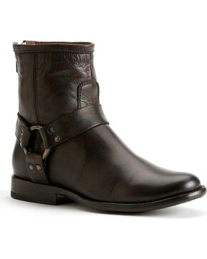 Frye Women's Phillip Harness Boots - Round Toe, Dark Brown, hi-res