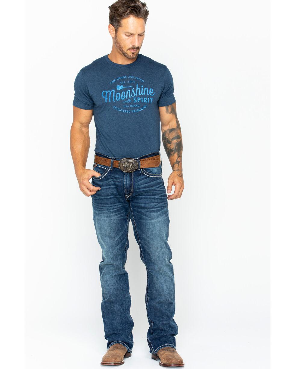 Ariat Men's M4 Quarterline Low Rise Boot Cut Jeans, Indigo, hi-res
