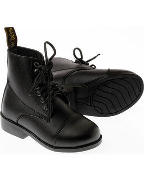 Saxon Women's Equileather Lace Boots, Black, hi-res