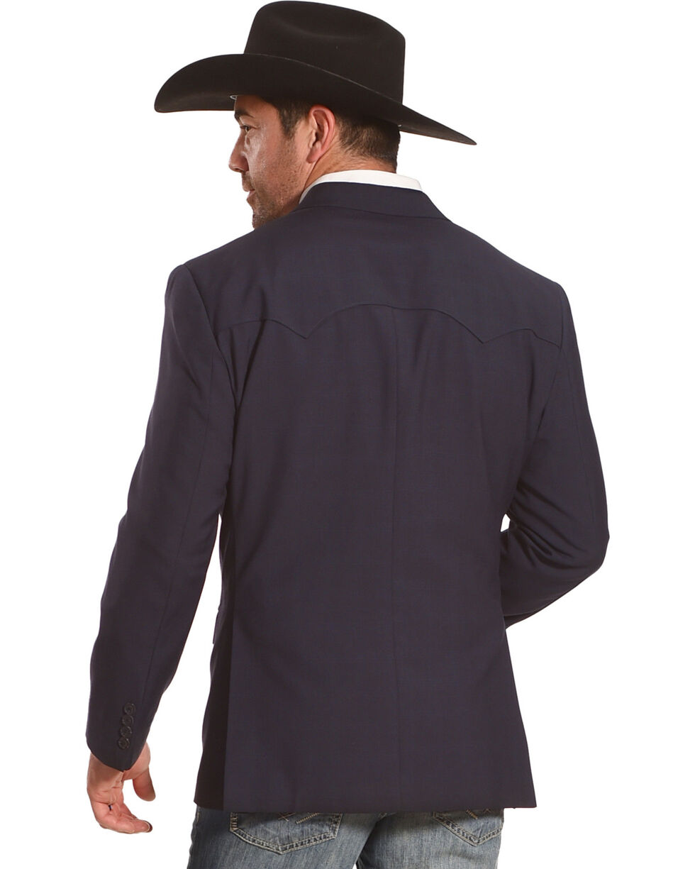 Circle S Platinum Men's Blue Shadow Western Sport Coat, Navy, hi-res
