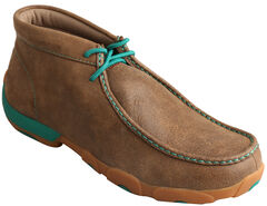 Twisted X Men's Brown & Lush Green Driving Mocs , , hi-res