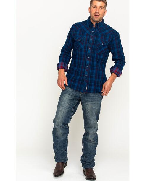 Wrangler Men's Blue Retro Premium Long Sleeve Shirt , Red, hi-res