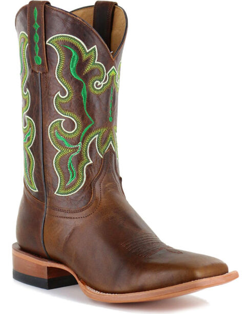 Cody James Men's Damiano Embroidered Western Boots - Square Toe, Brown, hi-res