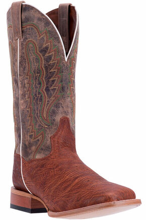 Dan Post Men's Cognac Bradey Cowboy Boots - Broad Square Toe, Cognac, hi-res