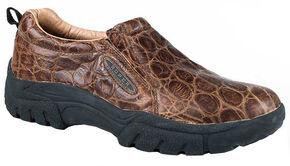 Roper Men's Performance Slip-On Shoes, Brown, hi-res