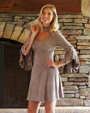 Wrangler Women's Mocha Faux Suede Dress , Brown, hi-res