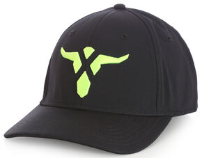 Wrangler Men's 20X Black Neon Stretch Fit Bull Cap, Black, hi-res