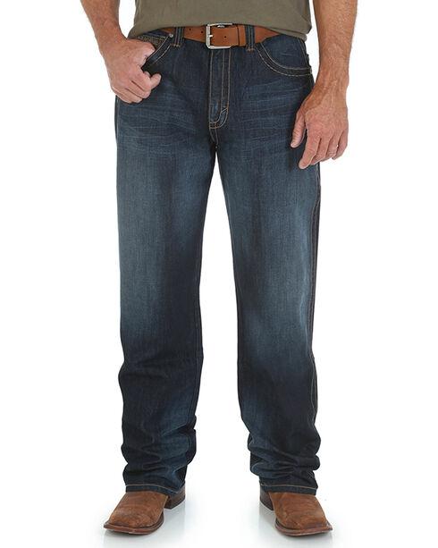 Wrangler 20X Men's Extreme Relaxed Straight Leg Jeans - Long, Dark Blue, hi-res