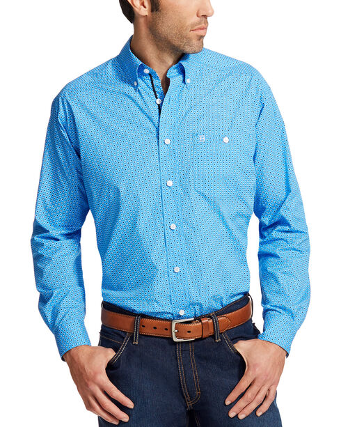 Ariat Men's Blue Relentless Driven Long Sleeve Buttondown Shirt , Multi, hi-res