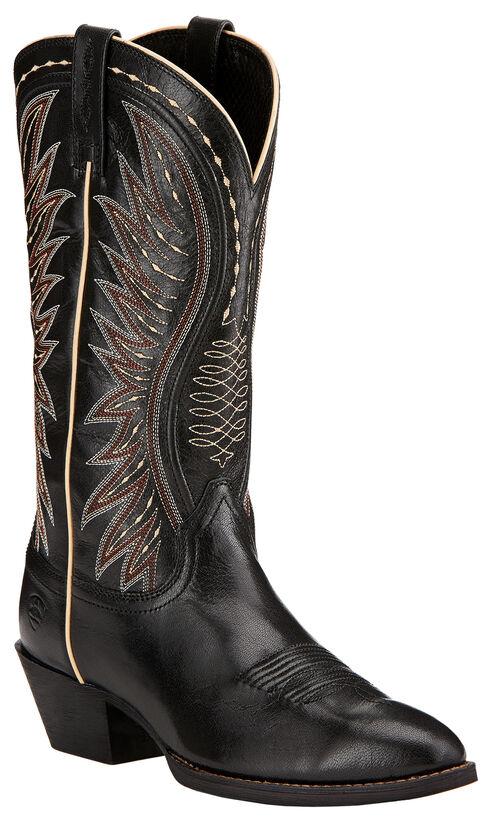 Ariat Ammorette Cowgirl Boots - Round Toe , Black, hi-res
