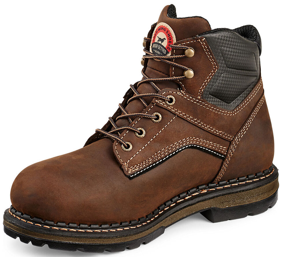 """Irish Setter by Red Wing Shoes Men's Ramsey 6"""" EH Waterproof Work Boots - Soft Round Toe  , Brown, hi-res"""